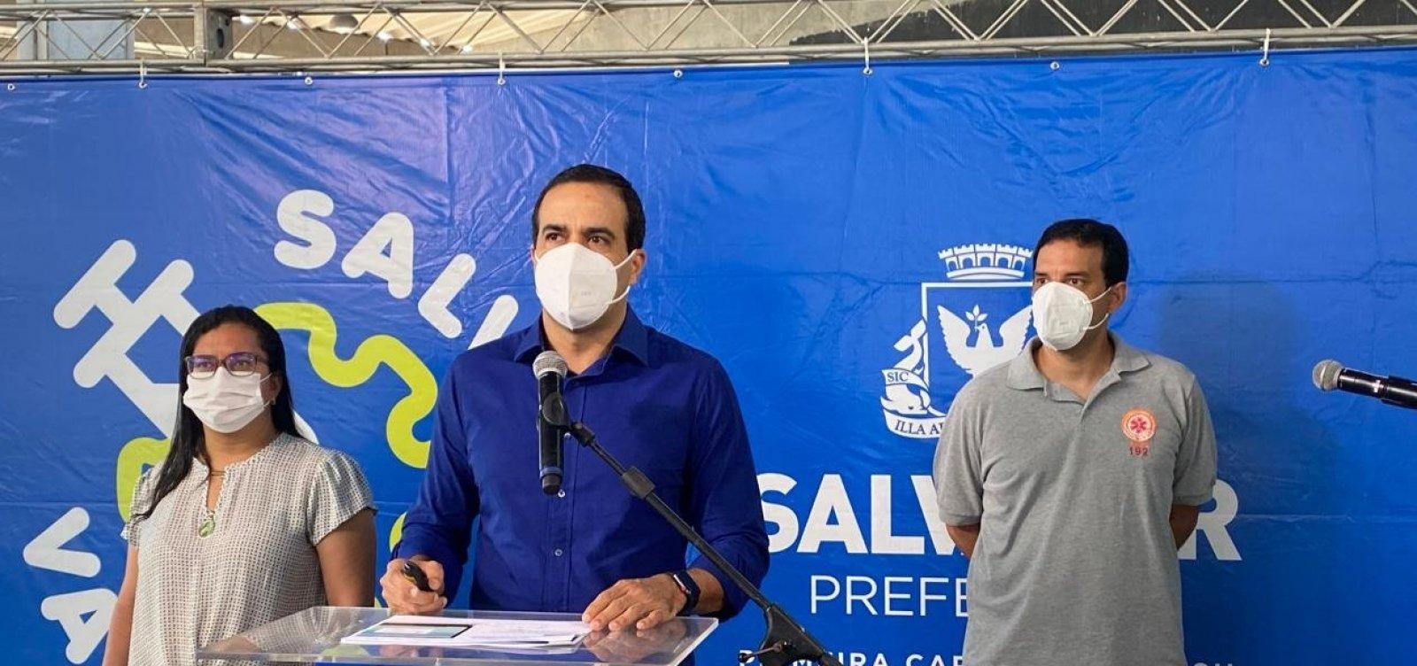 Salvador deve finalizar vacinação do grupo 1 neste fim de semana, diz prefeito