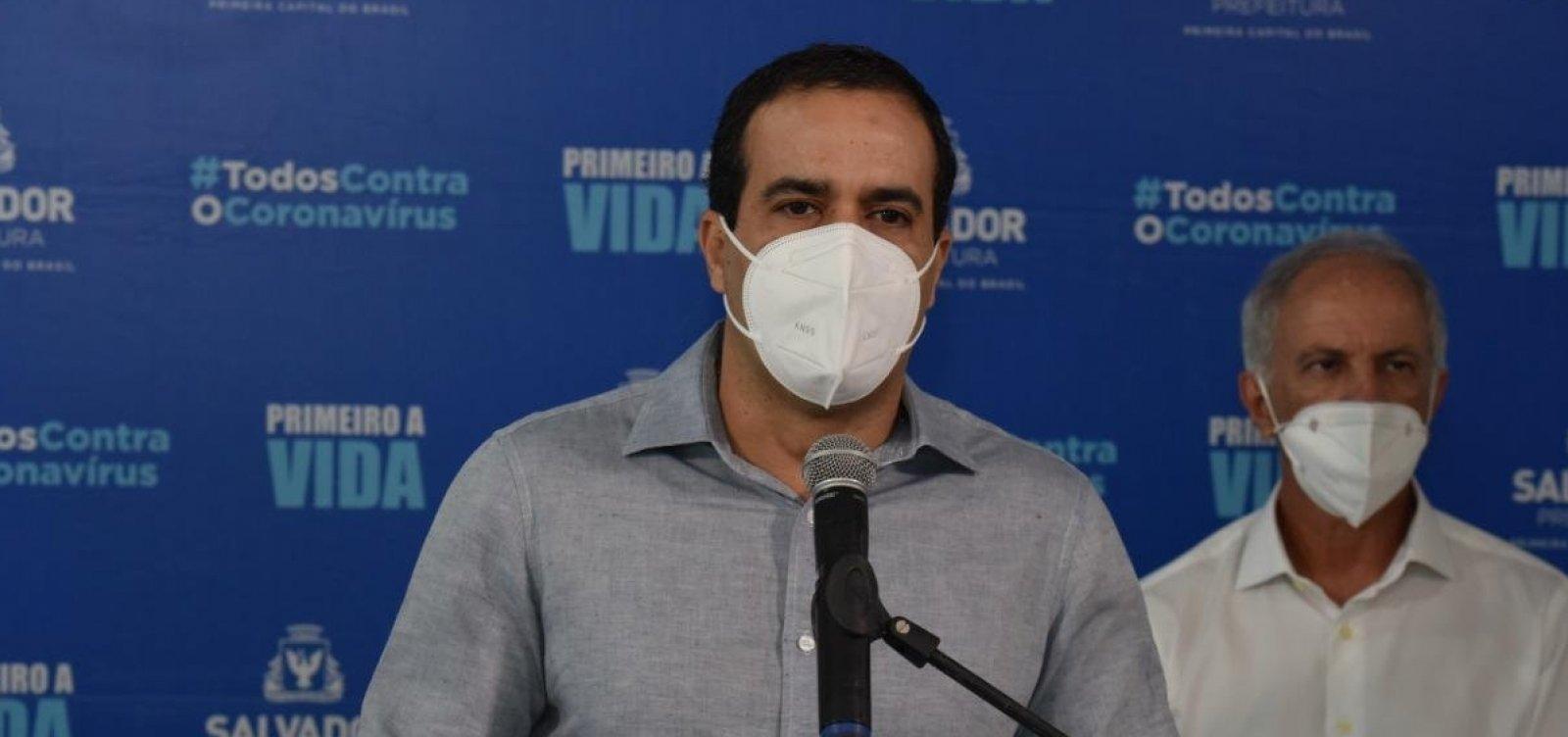 Novas atividades serão liberadas em Salvador se taxa de ocupação descer para 75%, diz prefeito