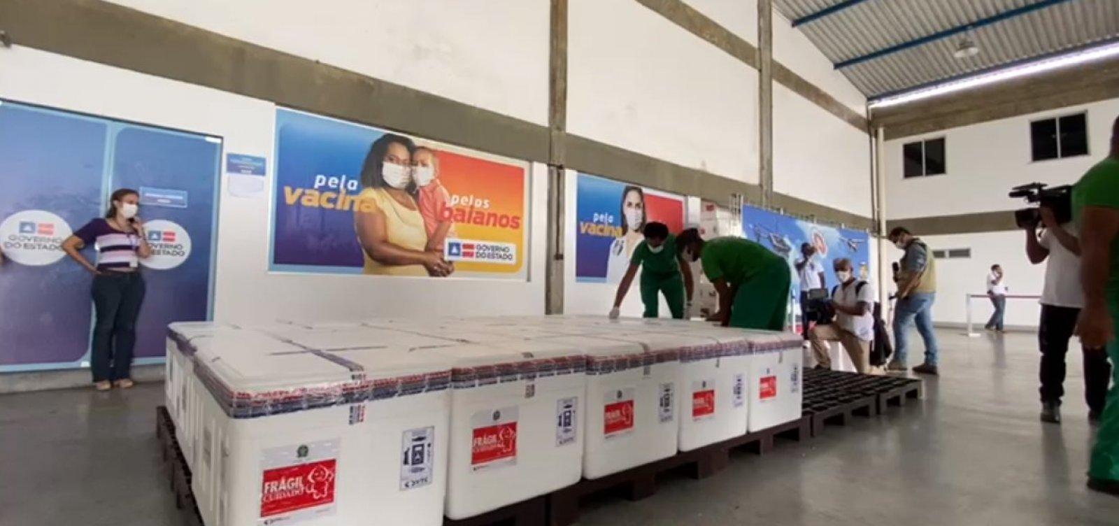 Novas doses da vacina covid-19 chegam na Bahia