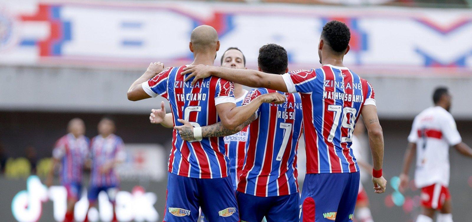 Bahia vence CRB por 4 a 0 e conquista vaga na semifinal da Copa do Nordeste