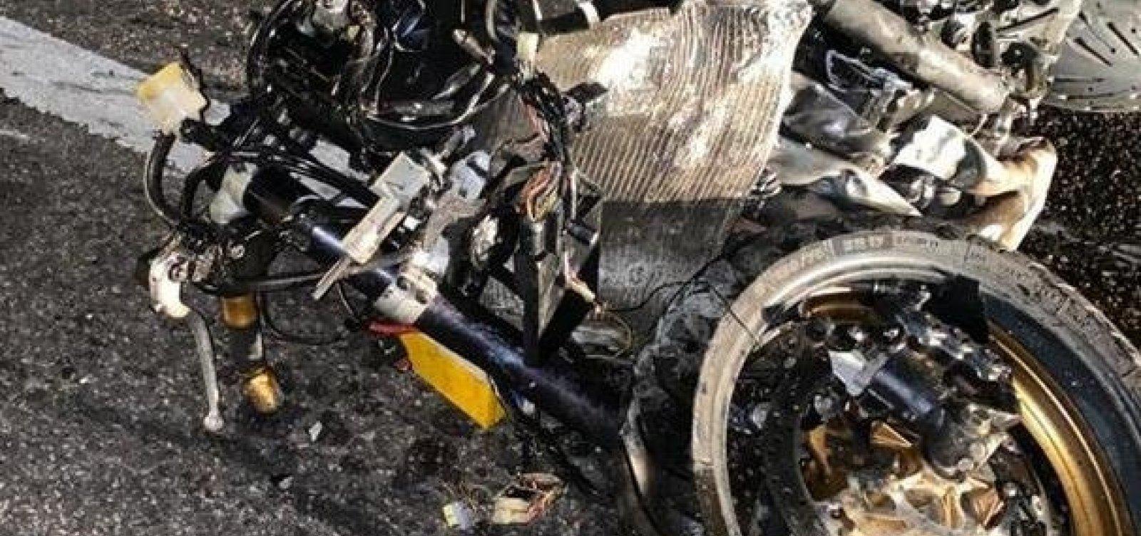 Policial militar é morto após carro na contramão colidir com sua moto
