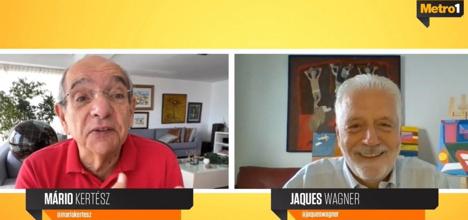 """""""Meu nome tá colocado"""", diz Wagner sobre campanha ao governo da Bahia"""