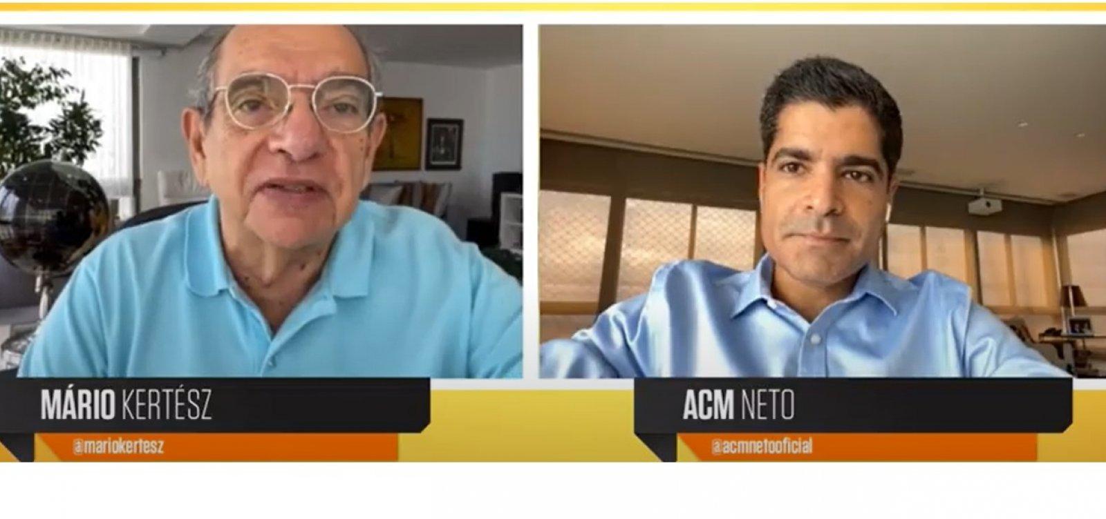 """""""A minha opçãoé disputar o governo da Bahia ano que vem"""", diz ACM Neto"""