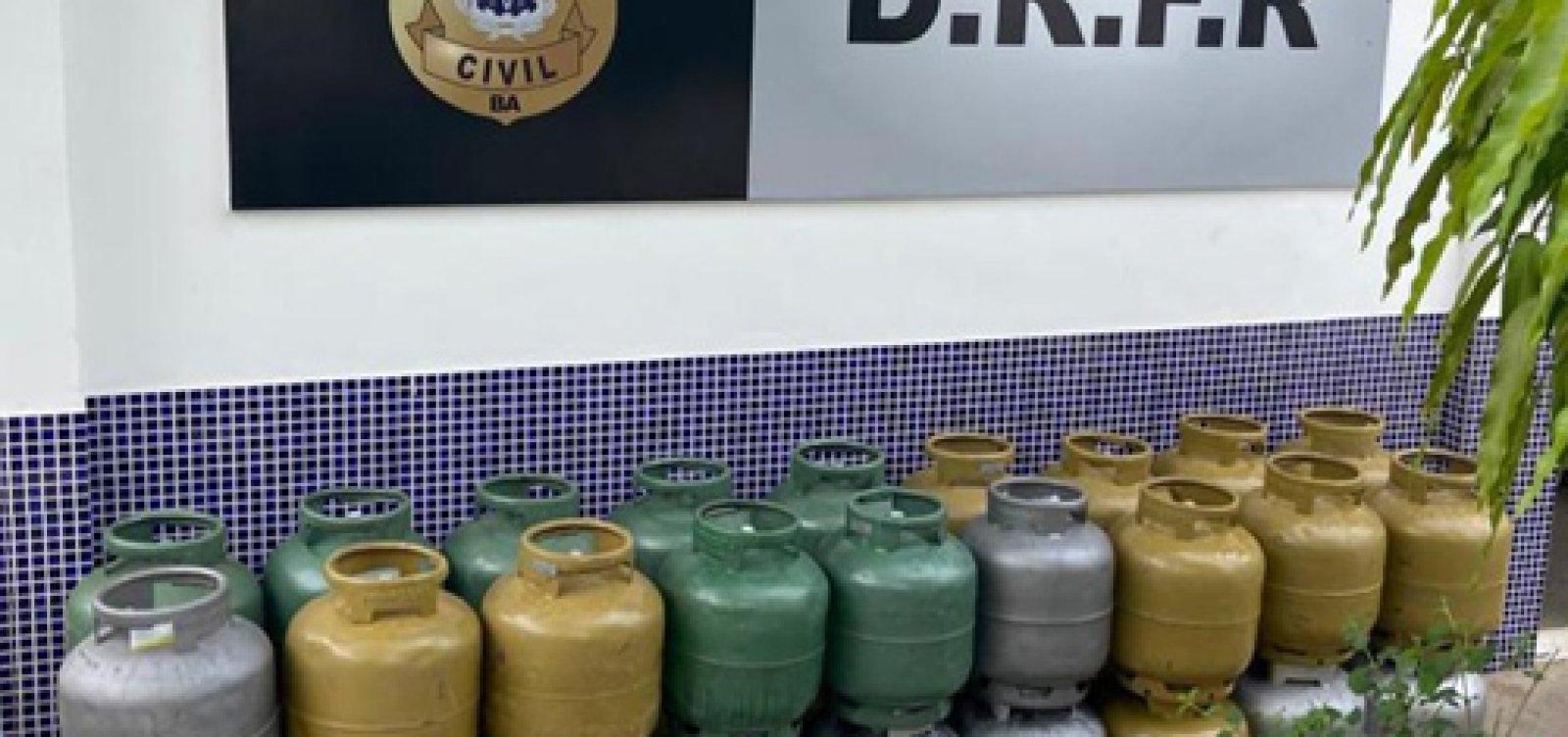 Polícia recupera carga furtada de botijão de gás em Jequié