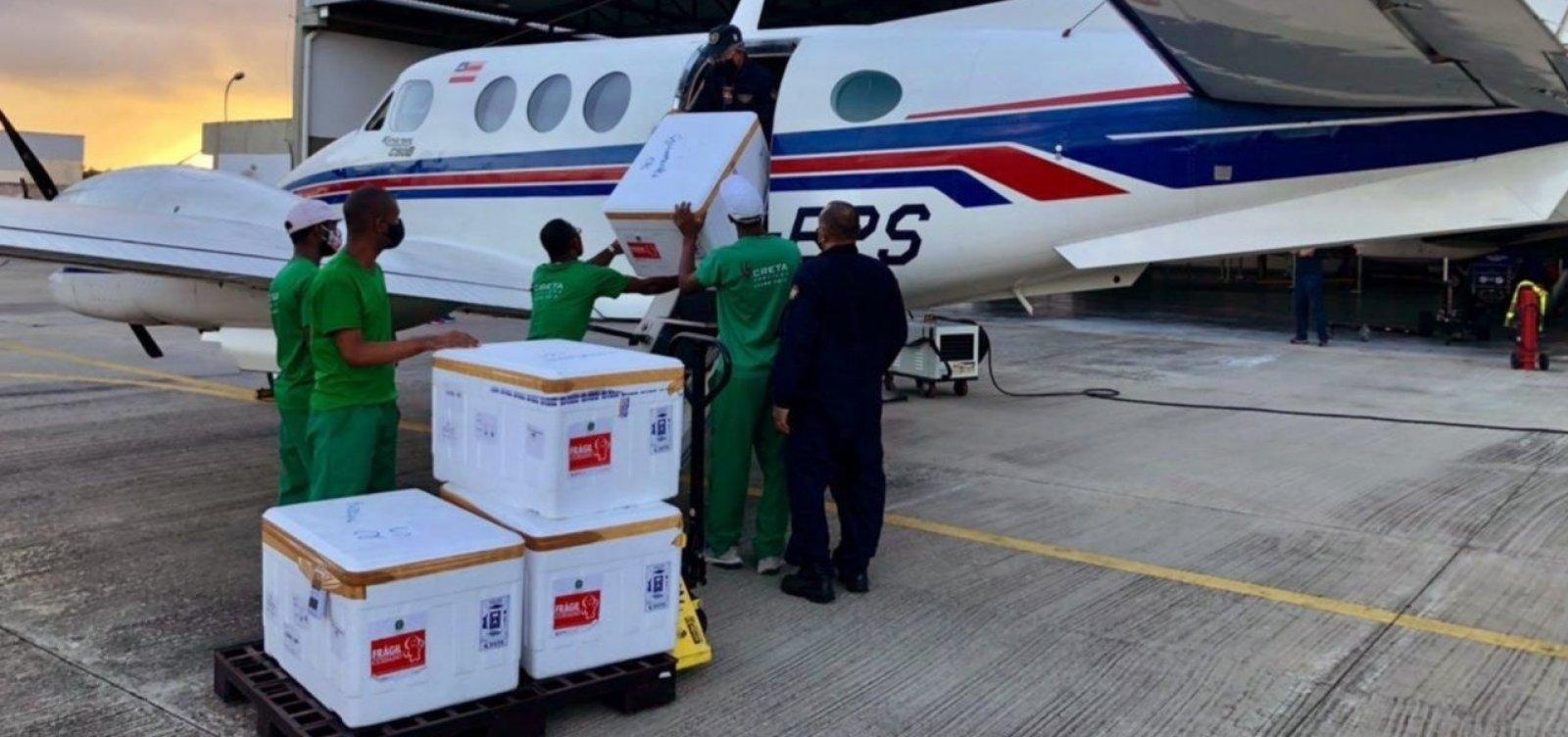 Novo lote de vacinas contra Covid-19 chega à Bahia