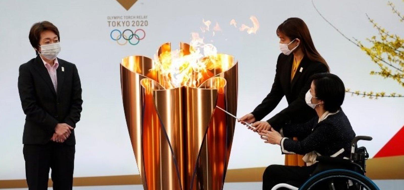 Organizadores dos Jogos Olímpicos confirmam primeiro caso de Covid-19 no revezamento da tocha