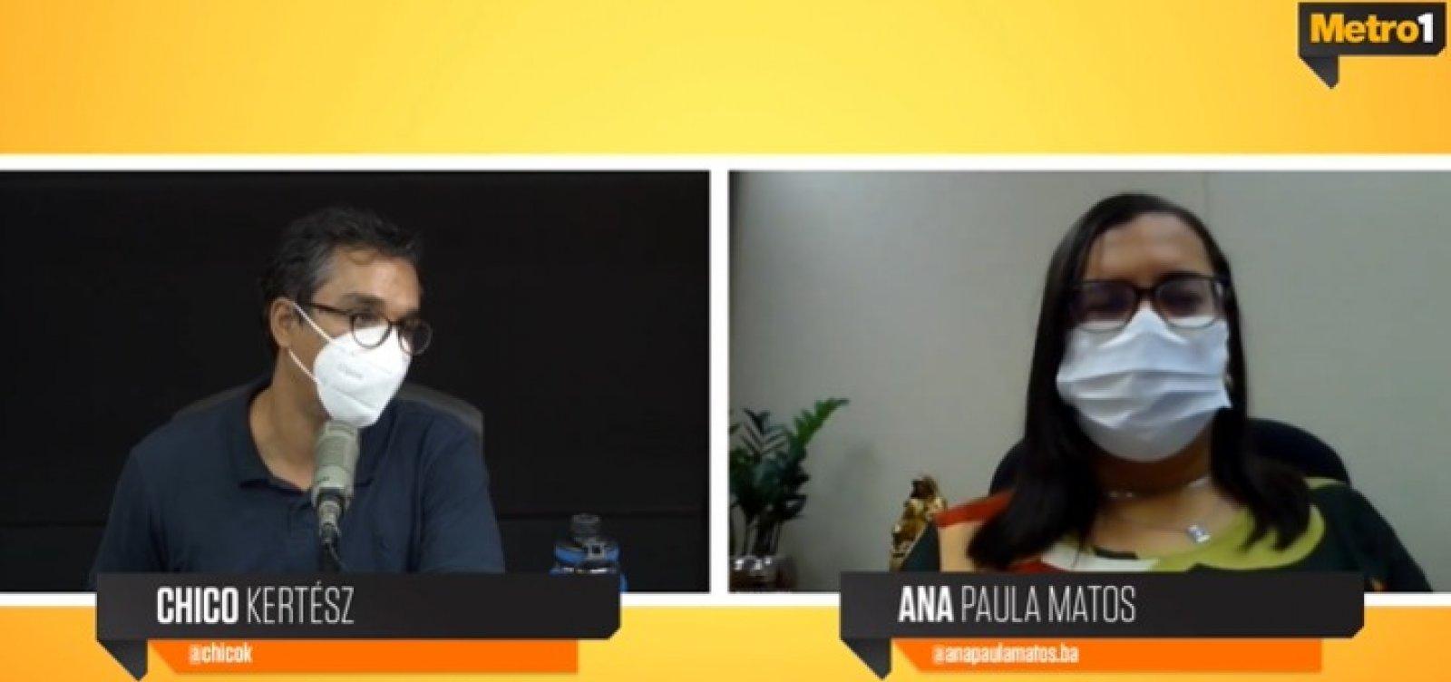 """""""A gente fica a mercê do comportamento de cada um"""", diz Ana Paula Matos sobre combate à pandemia"""