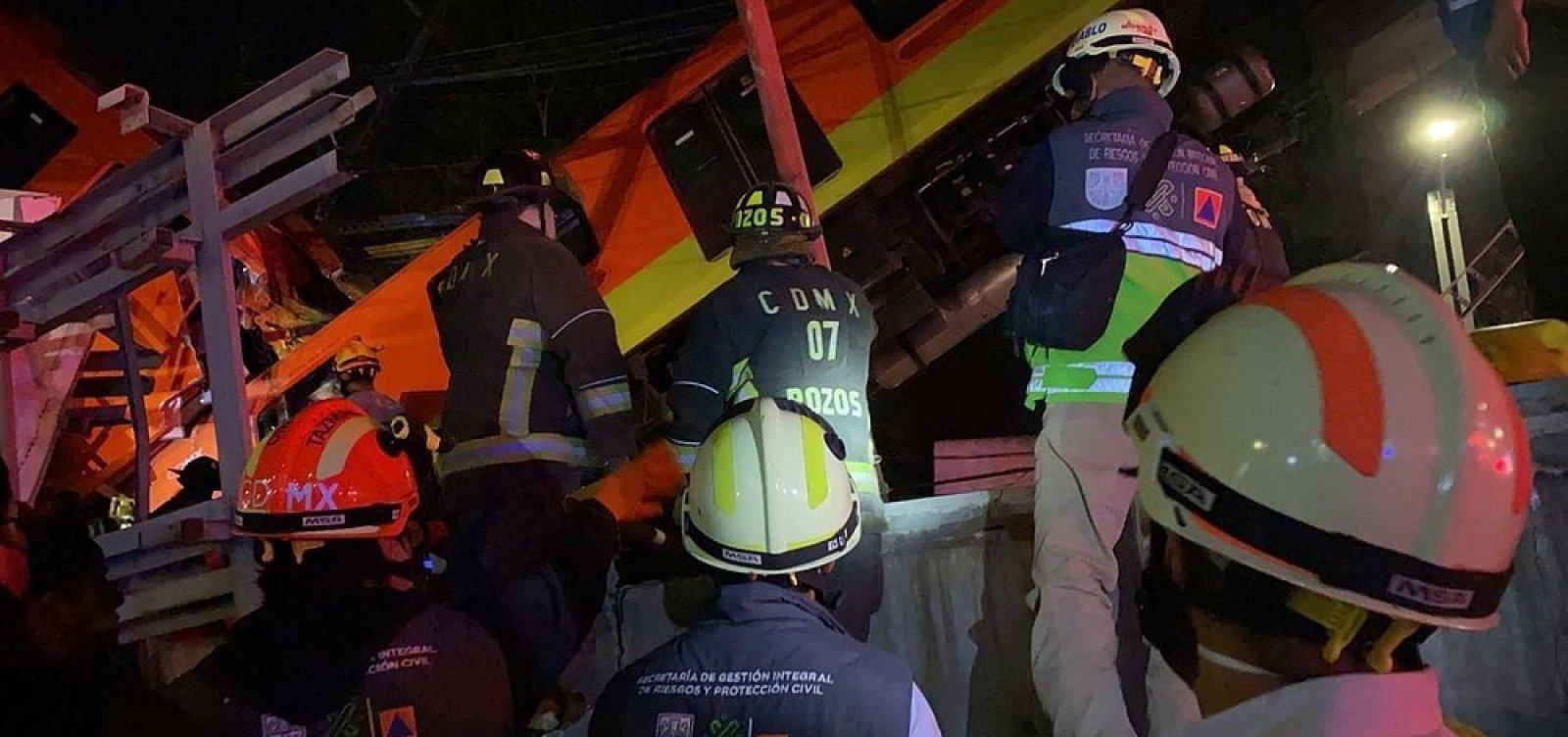 Viaduto de metrô desaba e deixa ao menos 23 mortos no México
