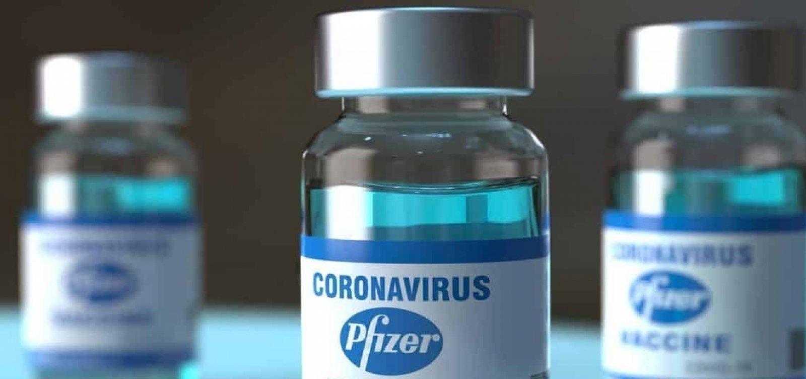 Novo lote de vacinas da Pfizer contra a Covid-19 chega nesta quarta