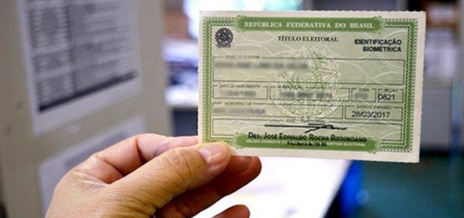 Bahia tem 1,67 milhão de títulos eleitorais cancelados ou suspensos