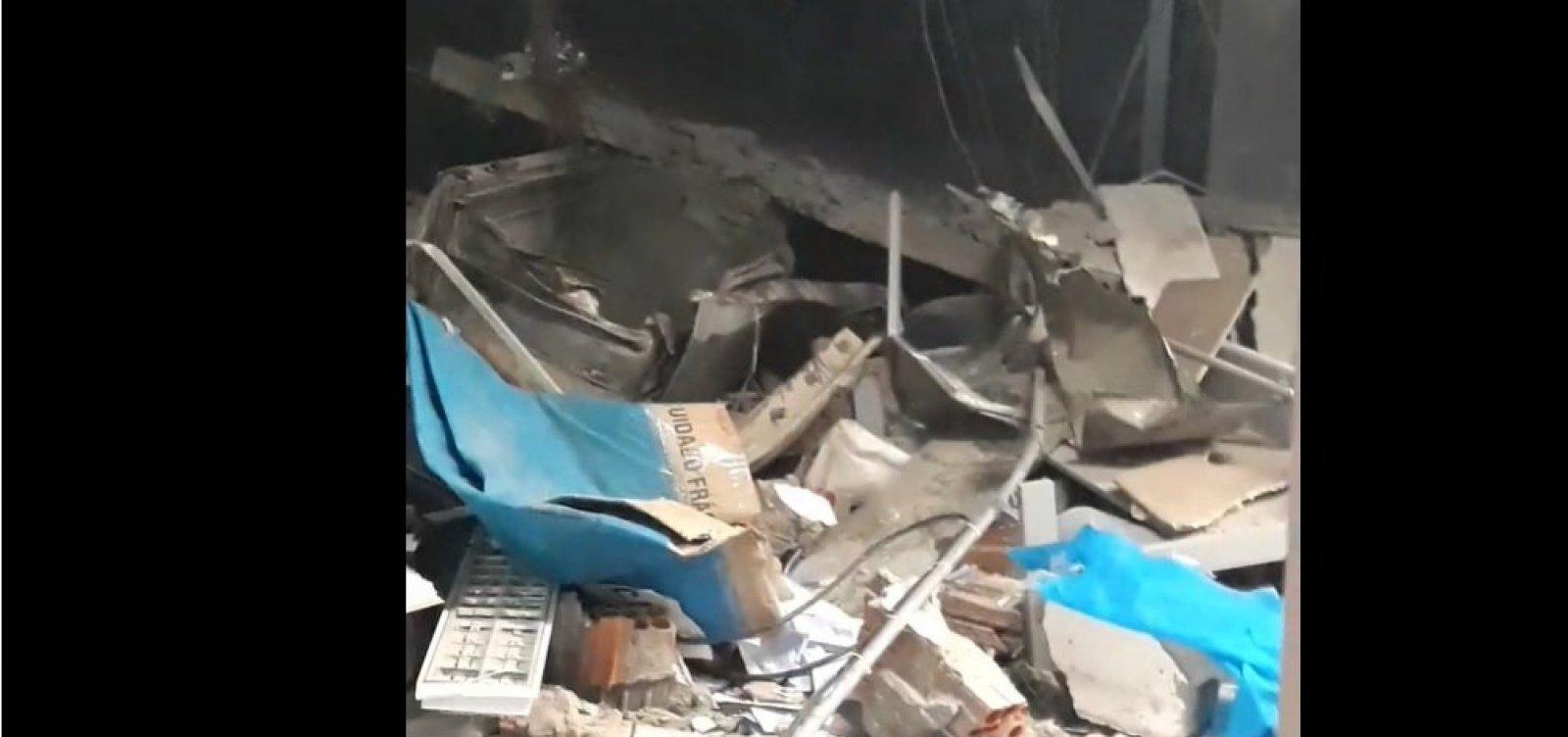 Três agências bancárias são destruídas simultaneamente em Correntina; é 22º ataque na Bahia