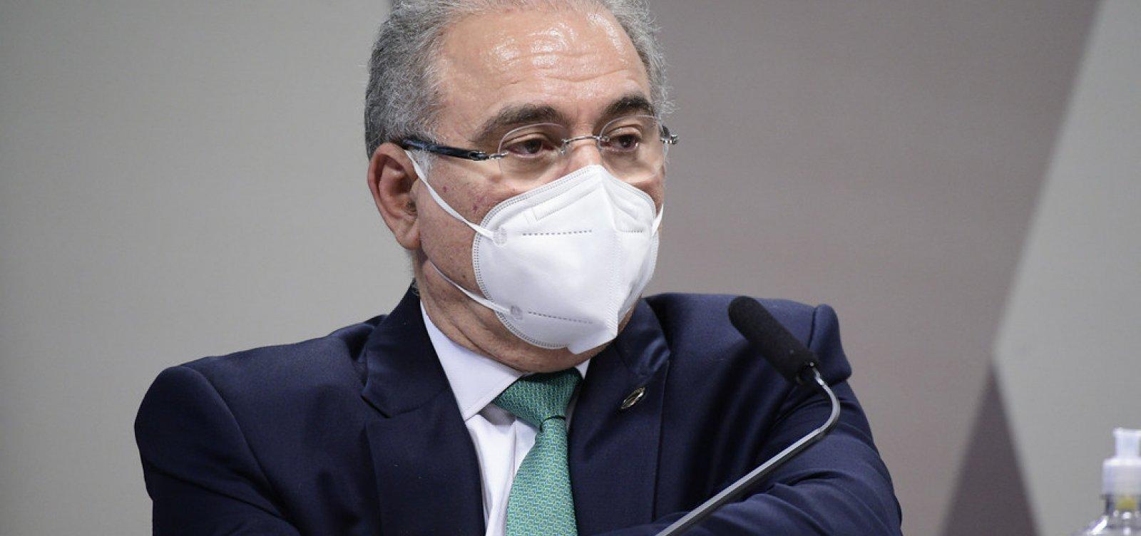 """Queiroga diz que não faz """"juízo"""" sobre opinião de Bolsonaro em relação à cloroquina"""