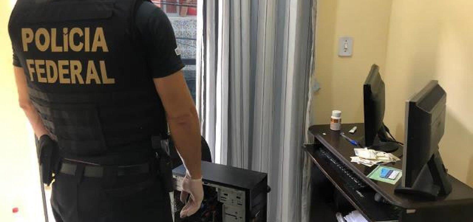 PF cumpre mandado de busca e apreensão em operação contra pedofilia em Salvador