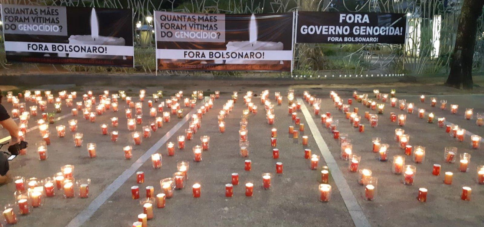 """Ato no Campo Grande homenageia mães vítimas da pandemia e pede """"Fora Bolsonaro"""""""