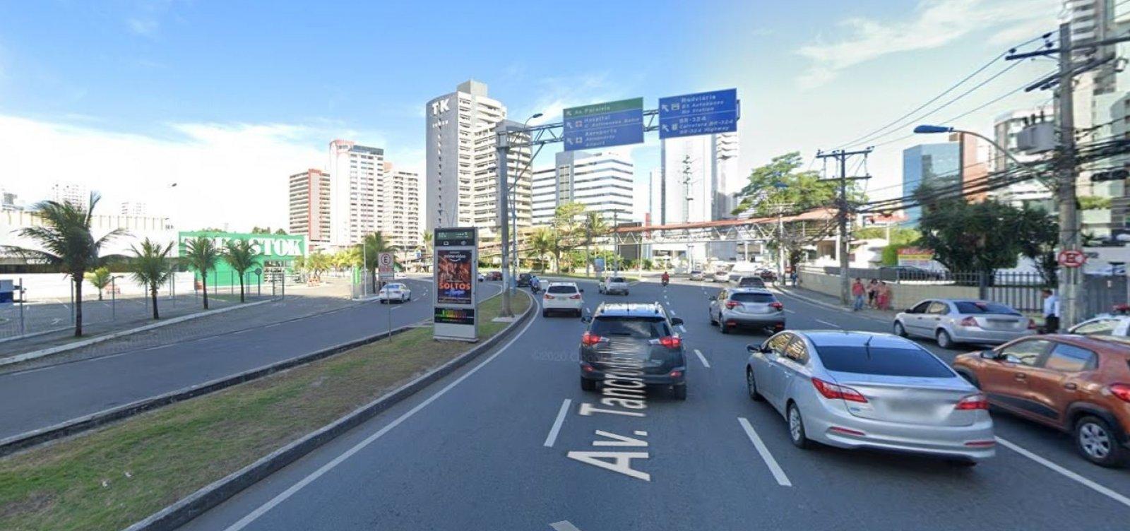 Obras afetam trânsito na Tancredo Neves durante final de semana; veja mudanças