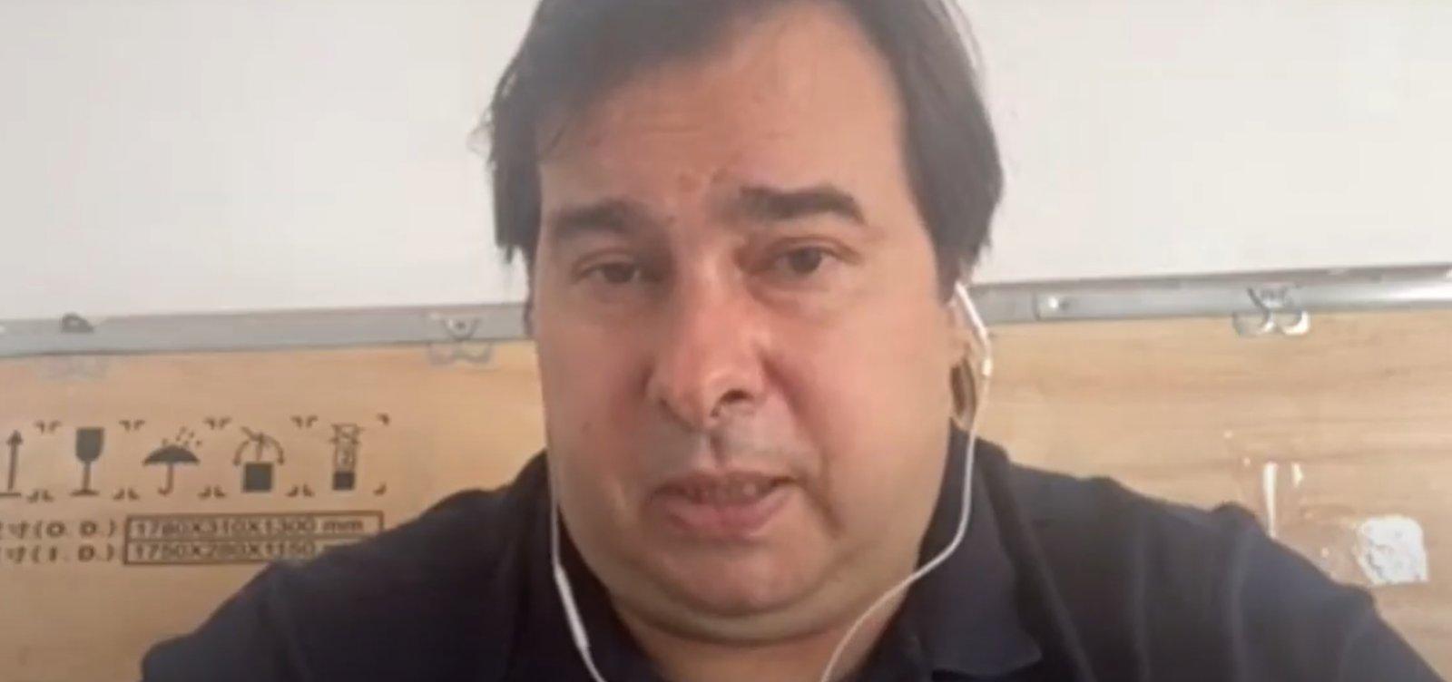 """ACM Neto deve ser vice na chapa de Bolsonaro"", diz Rodrigo Maia"