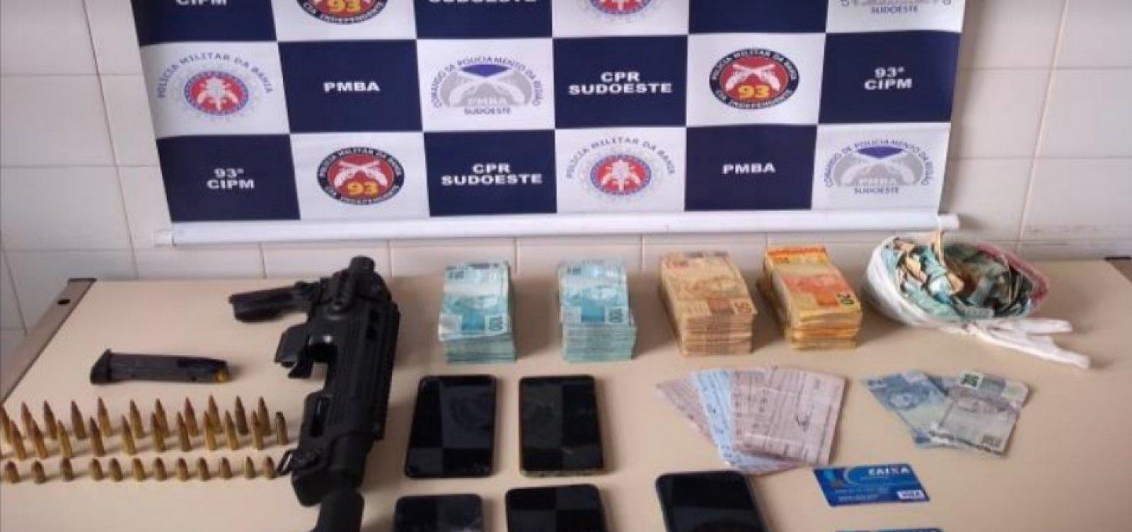 Três suspeitos de assaltos a bancos são presos no interior da Bahia