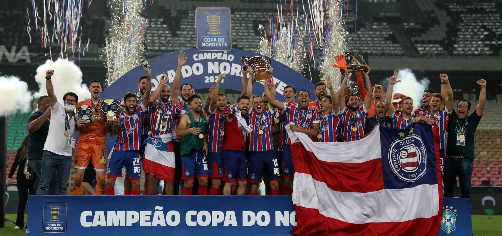 Bahia tem sete jogadores na seleção da Copa do Nordeste