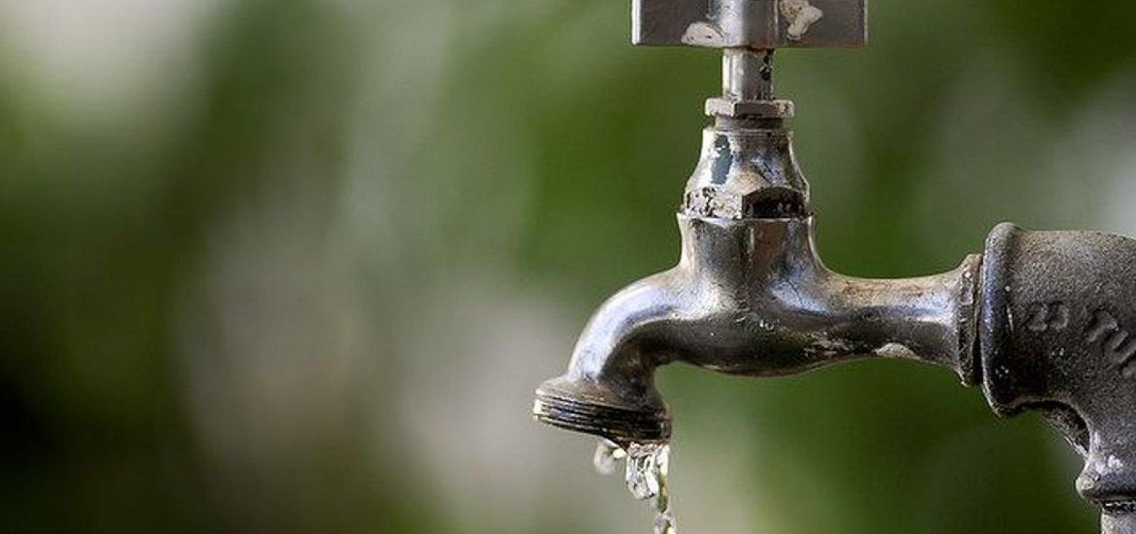 Bairros de Camaçari têm fornecimento de água suspenso nesta quarta; saiba mais
