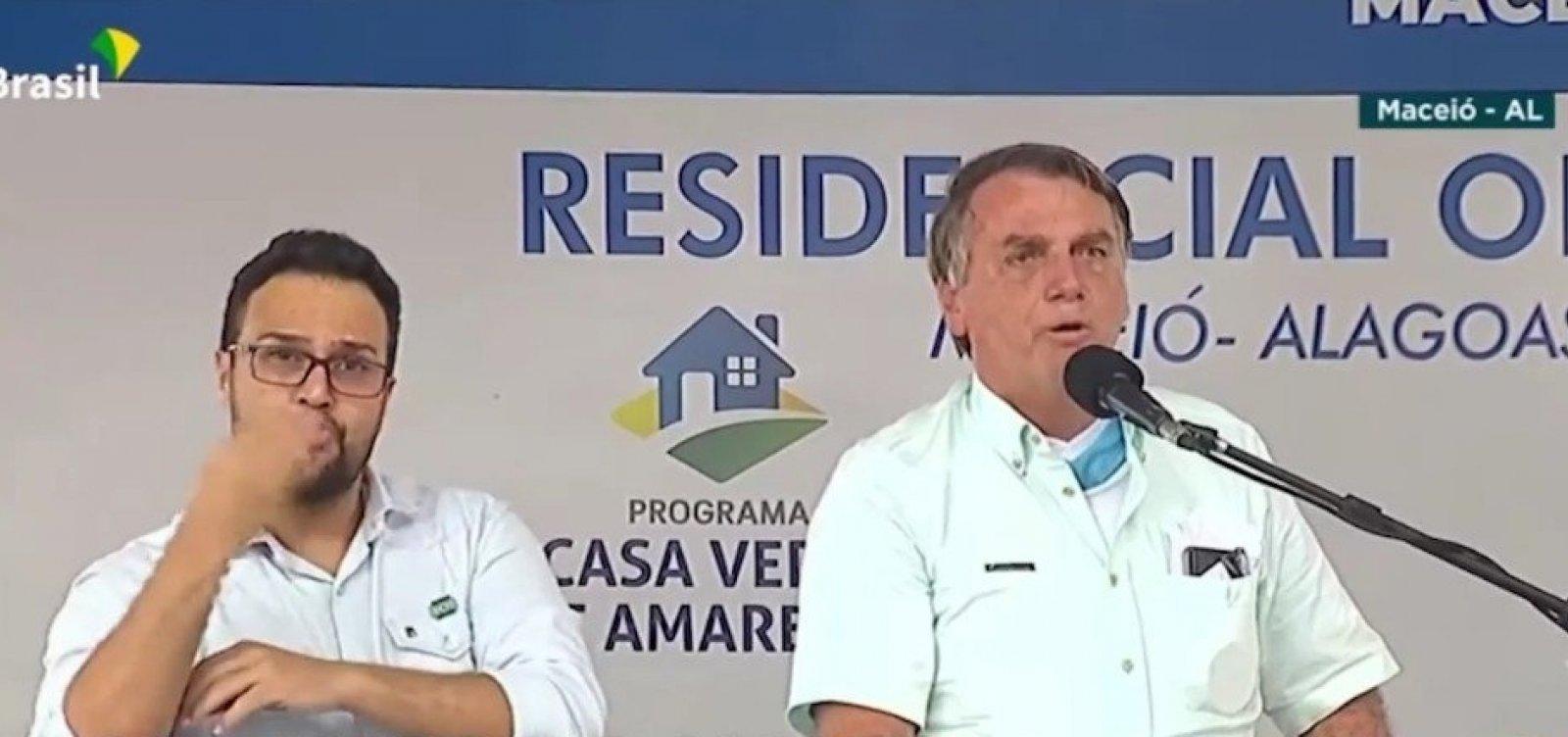 """Depois do filho Flávio, Bolsonaro chama Renan Calheiros de """"vagabundo"""""""