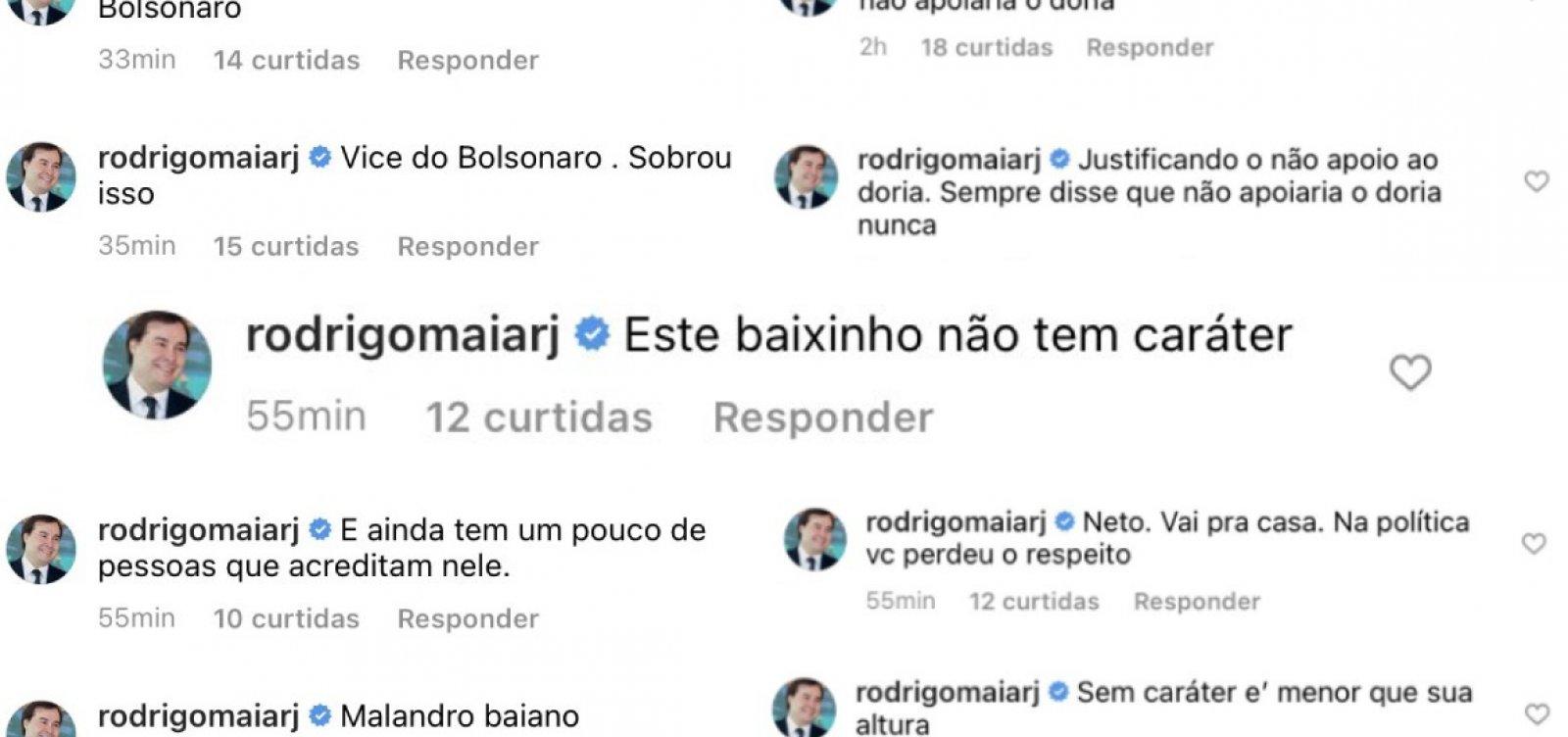 """""""Esse baixinho não têm caráter"""", diz Rodrigo Maia sobre ACM Neto"""