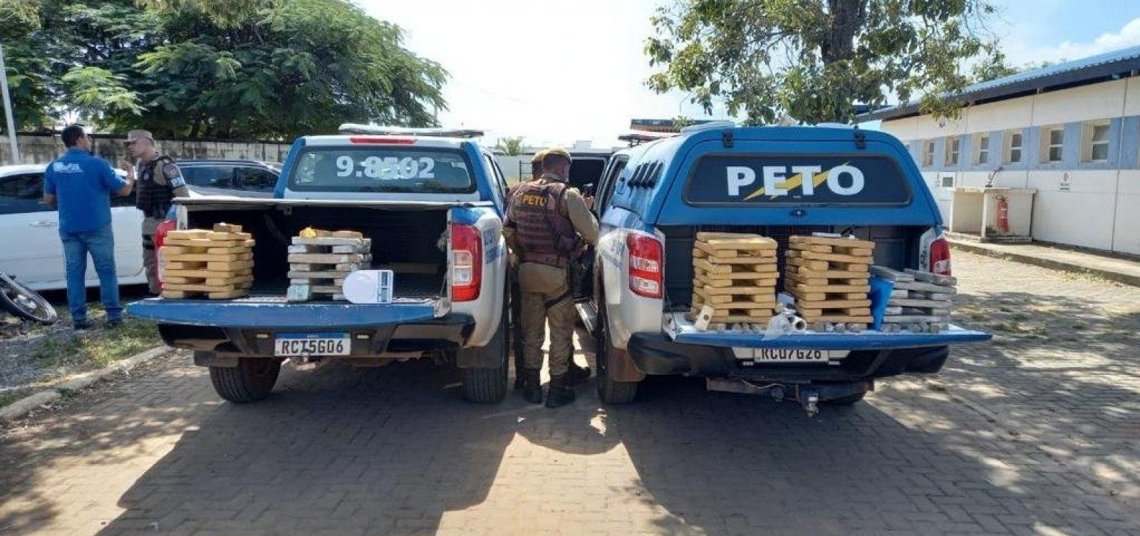 PM encontra 70 kg de maconha em esconderijo em cidade da Bahia