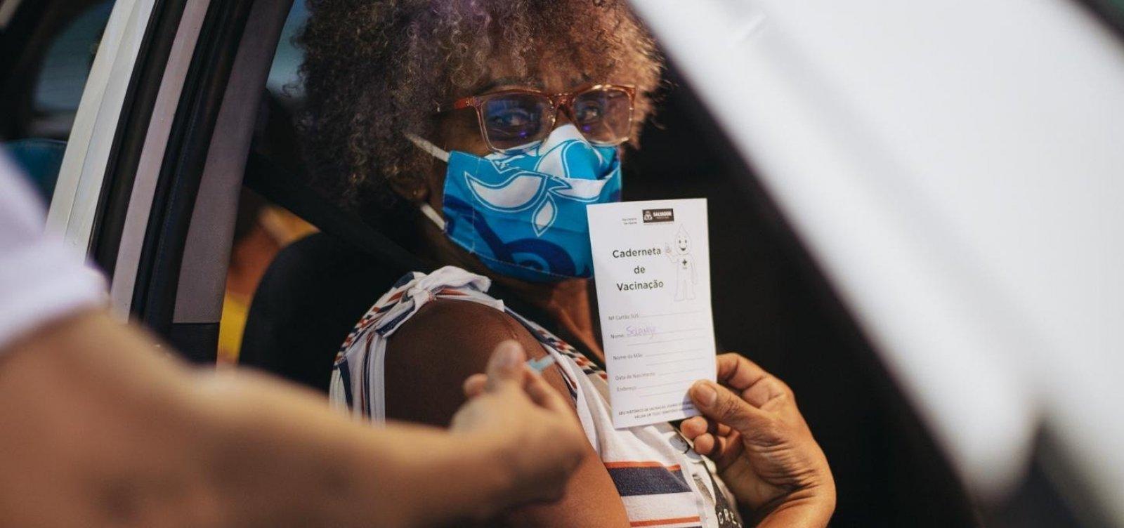 Covid-19: Bahia se aproxima de 20% da população vacinada com ao menos primeira dose