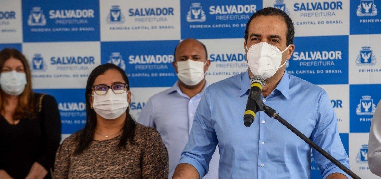 Prefeito cita risco de terceira onda e critica ritmo da vacinação em Salvador