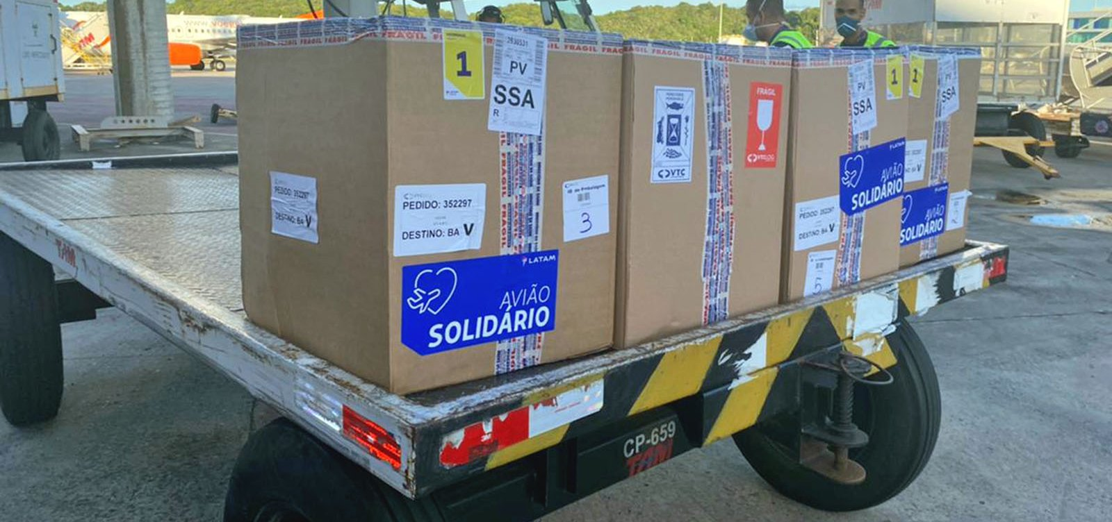 Bahia recebe remessa com 39.780 doses da vacina da Pfizer
