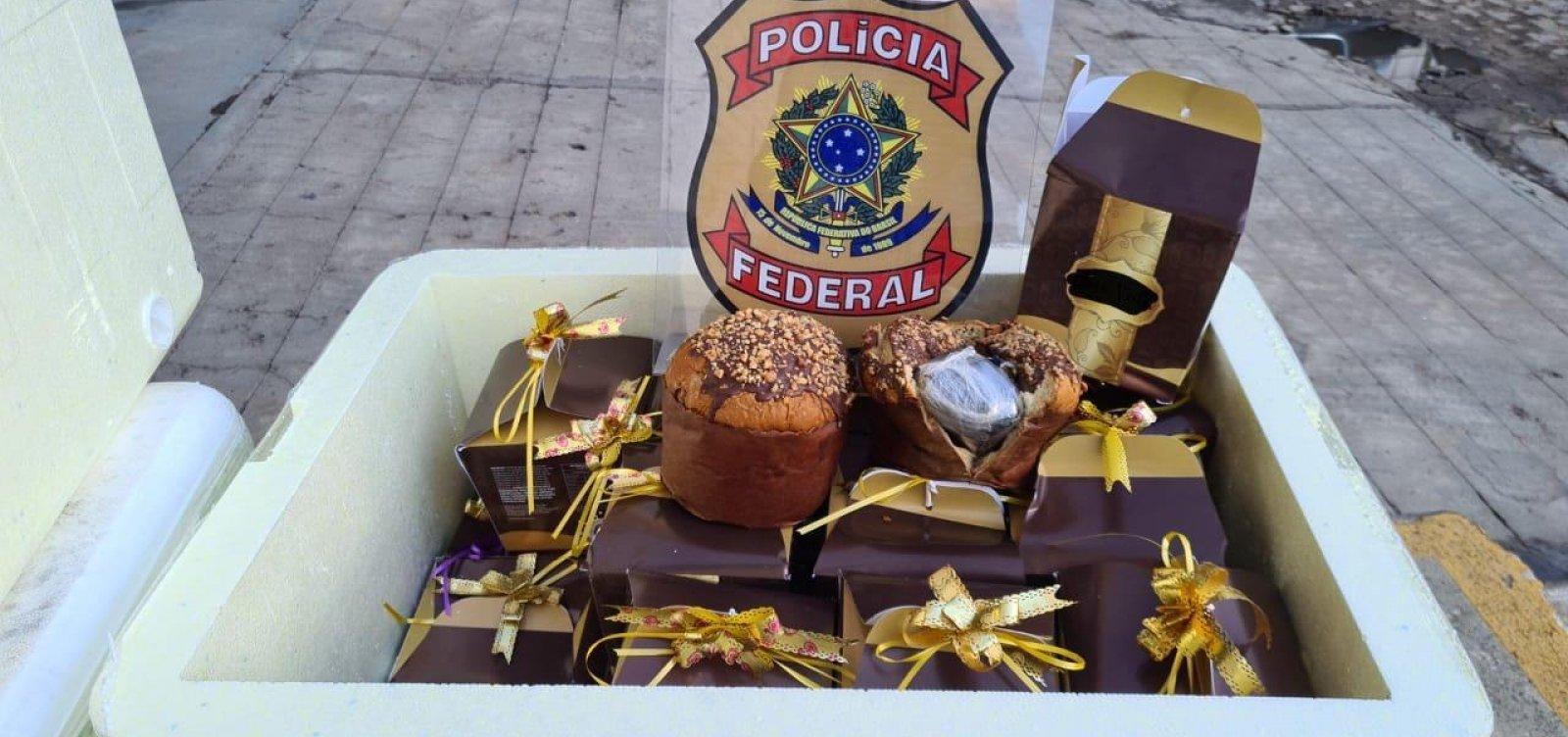 Polícia Federal apreende carga de panetone recheada com 10 kg de 'super maconha'