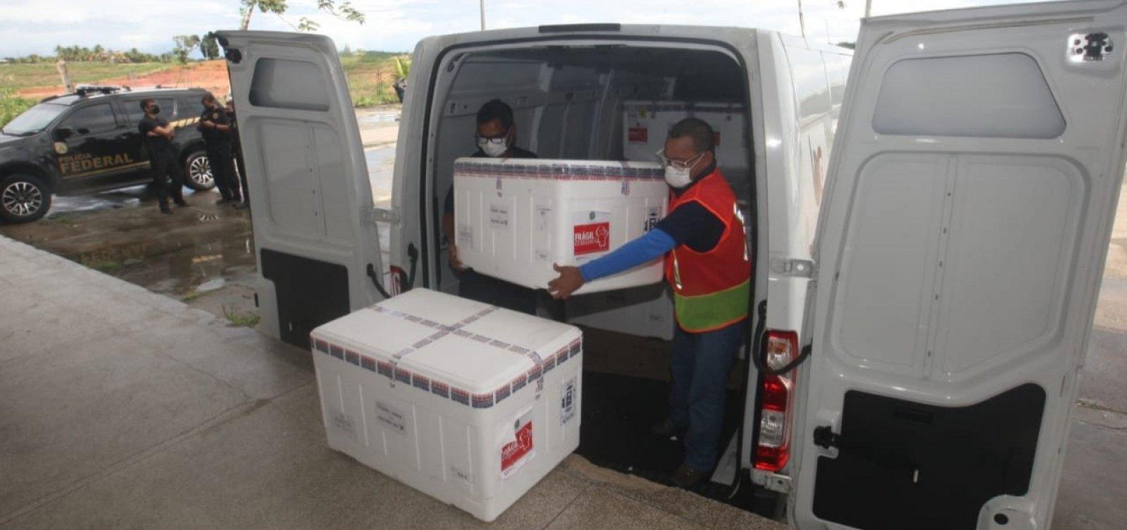 Chegam à Bahia mais 350 mil doses de vacina contra Covid-19