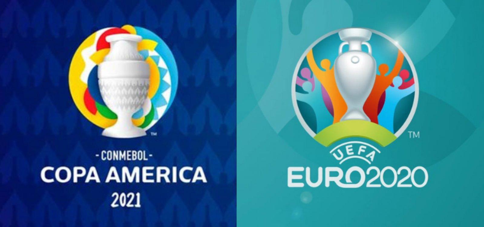 Em disputa de audiência e direito de transmissão, Globo e SBT fazem embate 'Eurocopa x Copa América'