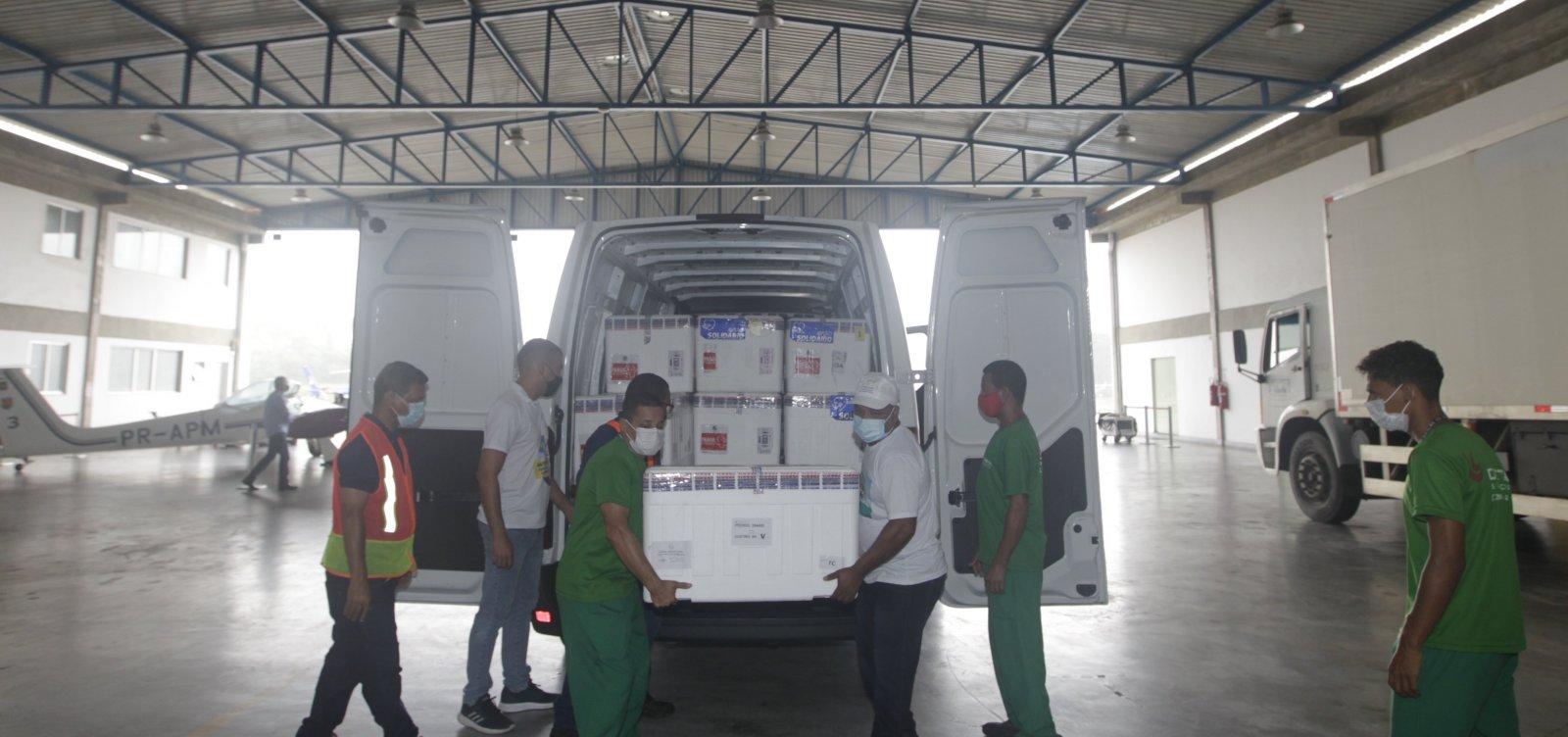Nova remessa de vacinas contra Covid-19 chega à Bahia