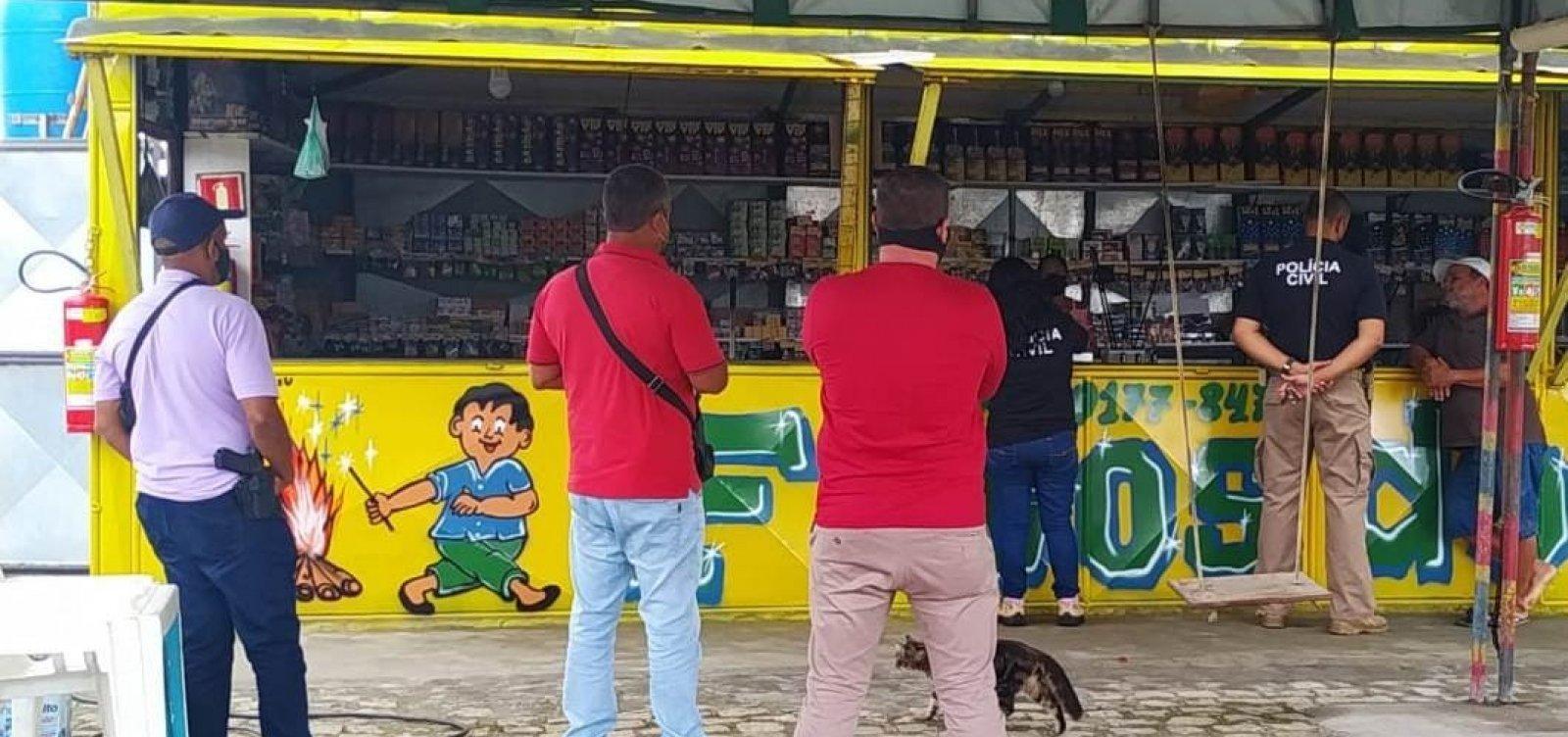 Operação 'Em Chamas' fiscaliza a venda de fogos de artifício na Bahia
