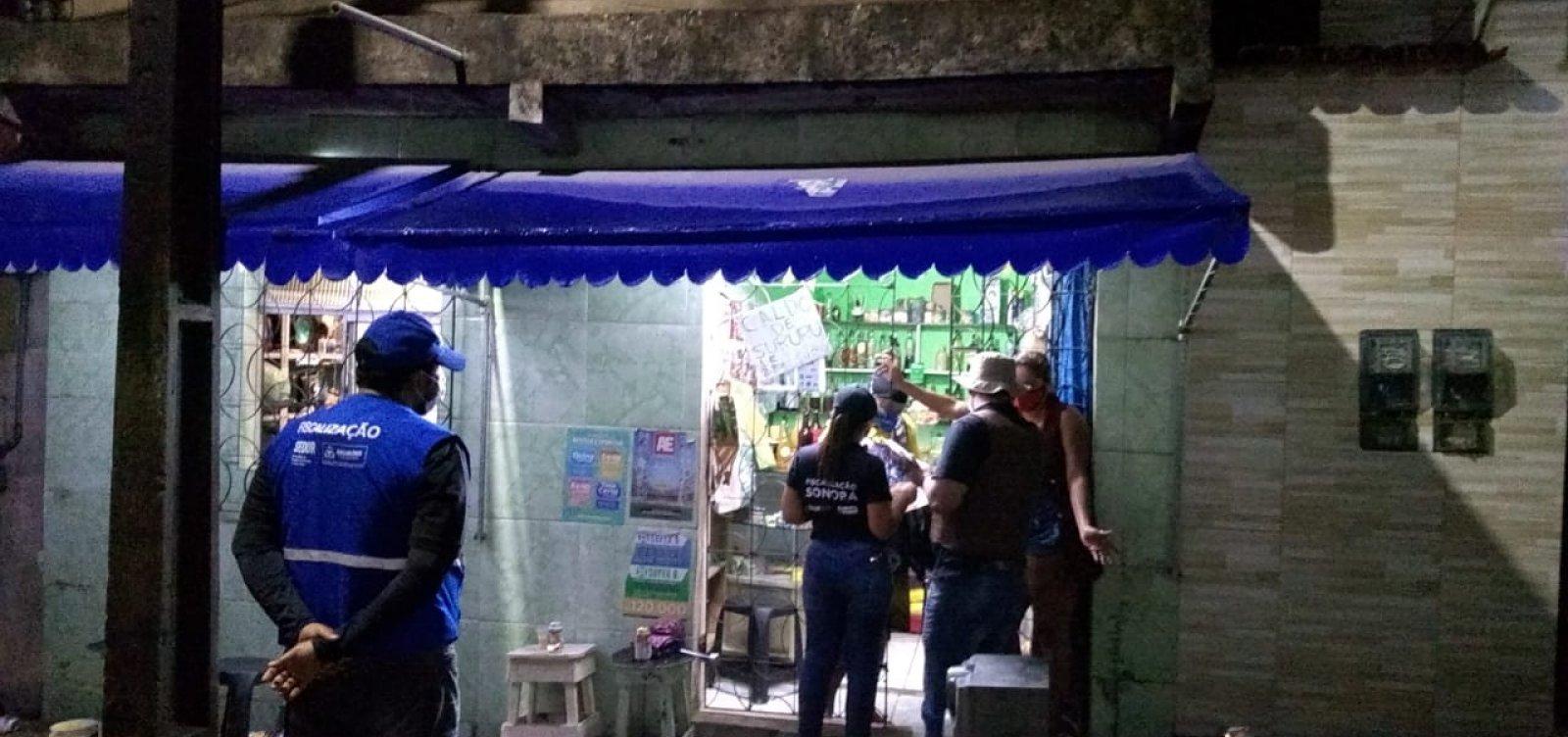 Força-tarefa interdita 24 estabelecimentos e dispersa 16 aglomerações em Salvador