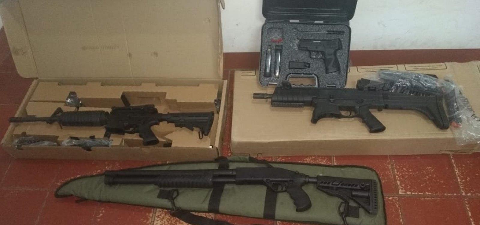 PF investiga fraude em posse de quatro armas por acusado de violência doméstica na Bahia