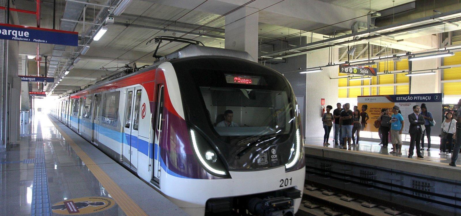 Metrô de Salvador altera funcionamento até 29 de junho; confira horários