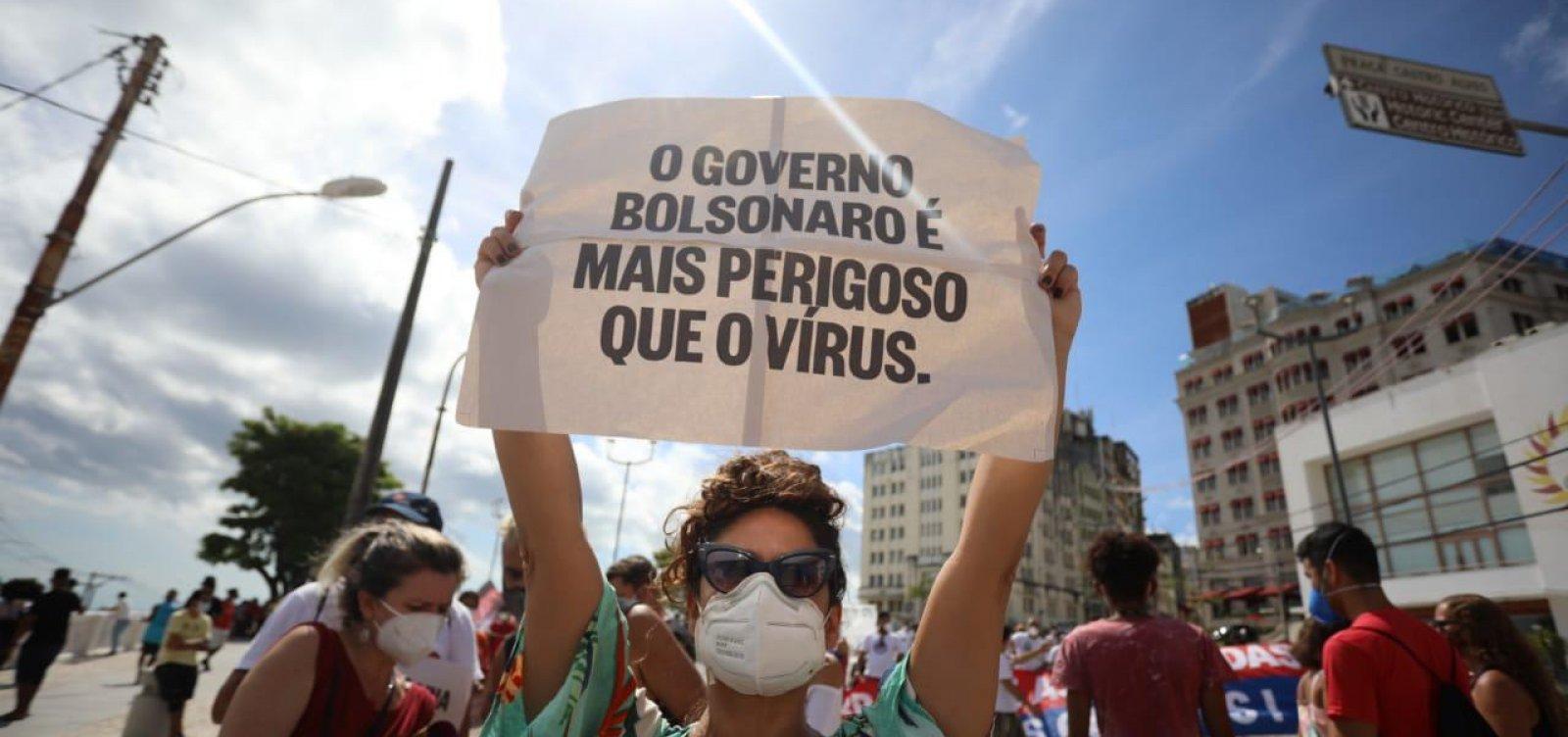 Diretório do PT em Salvador estima maior público em novo ato 'fora, Bolsonaro'