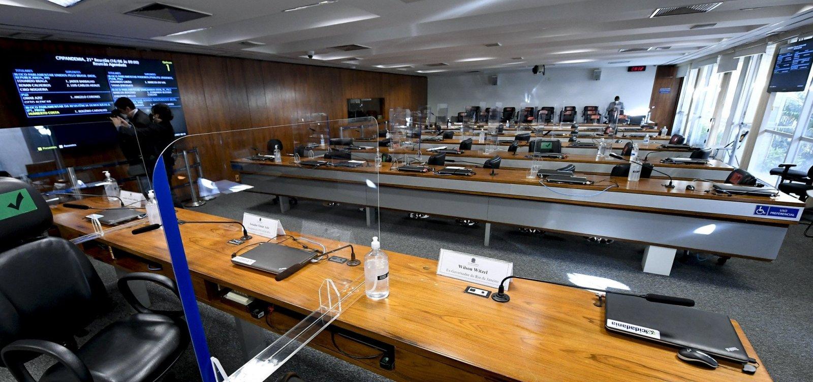CPI da Covid vota requerimentos, anuncia investigados e ouve defensores da cloroquina