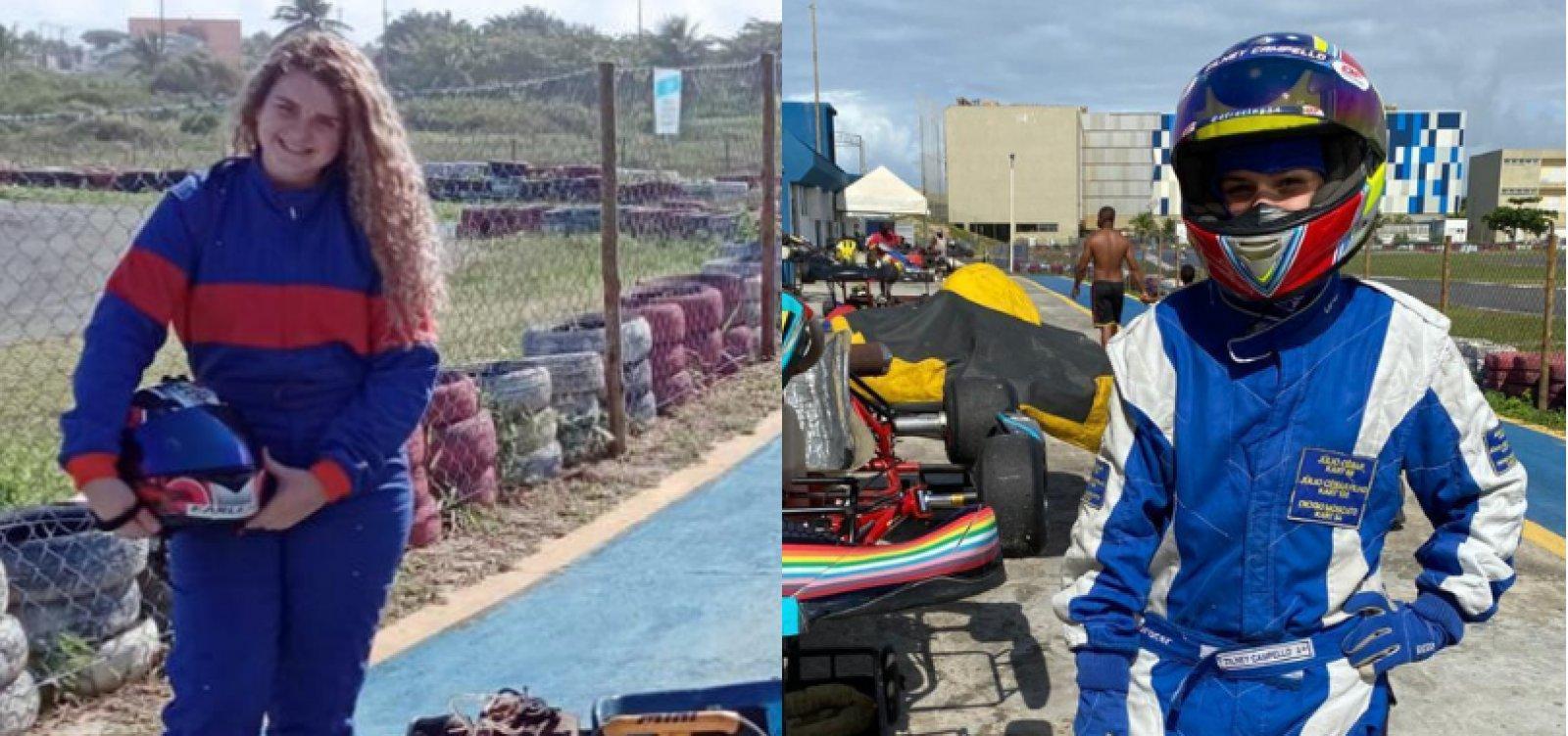 Promessas no kart da Bahia, jovens pilotas lutam contra machismo no esporte
