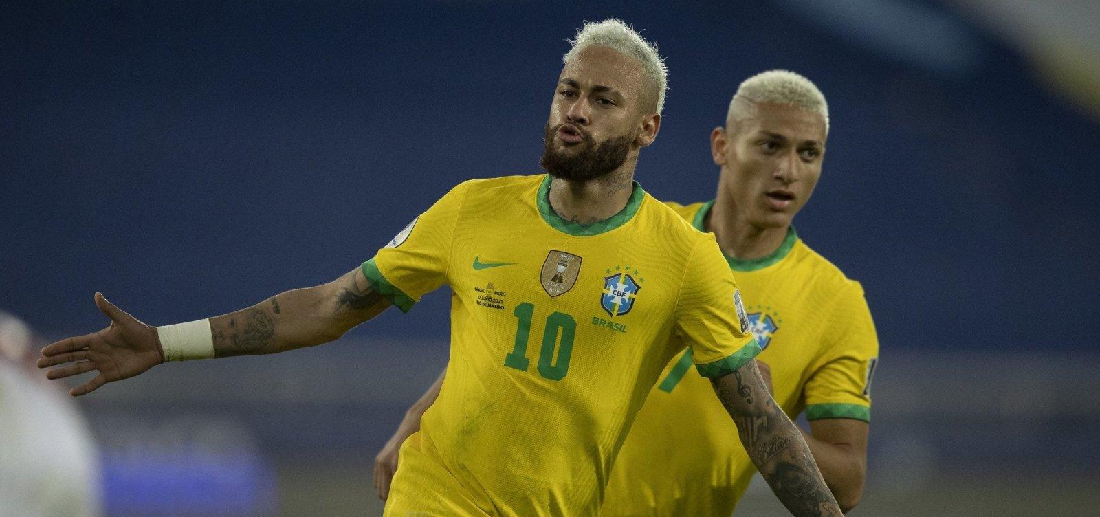 Com Neymar emocionado, Seleção comemora goleada e já pensa na Colômbia