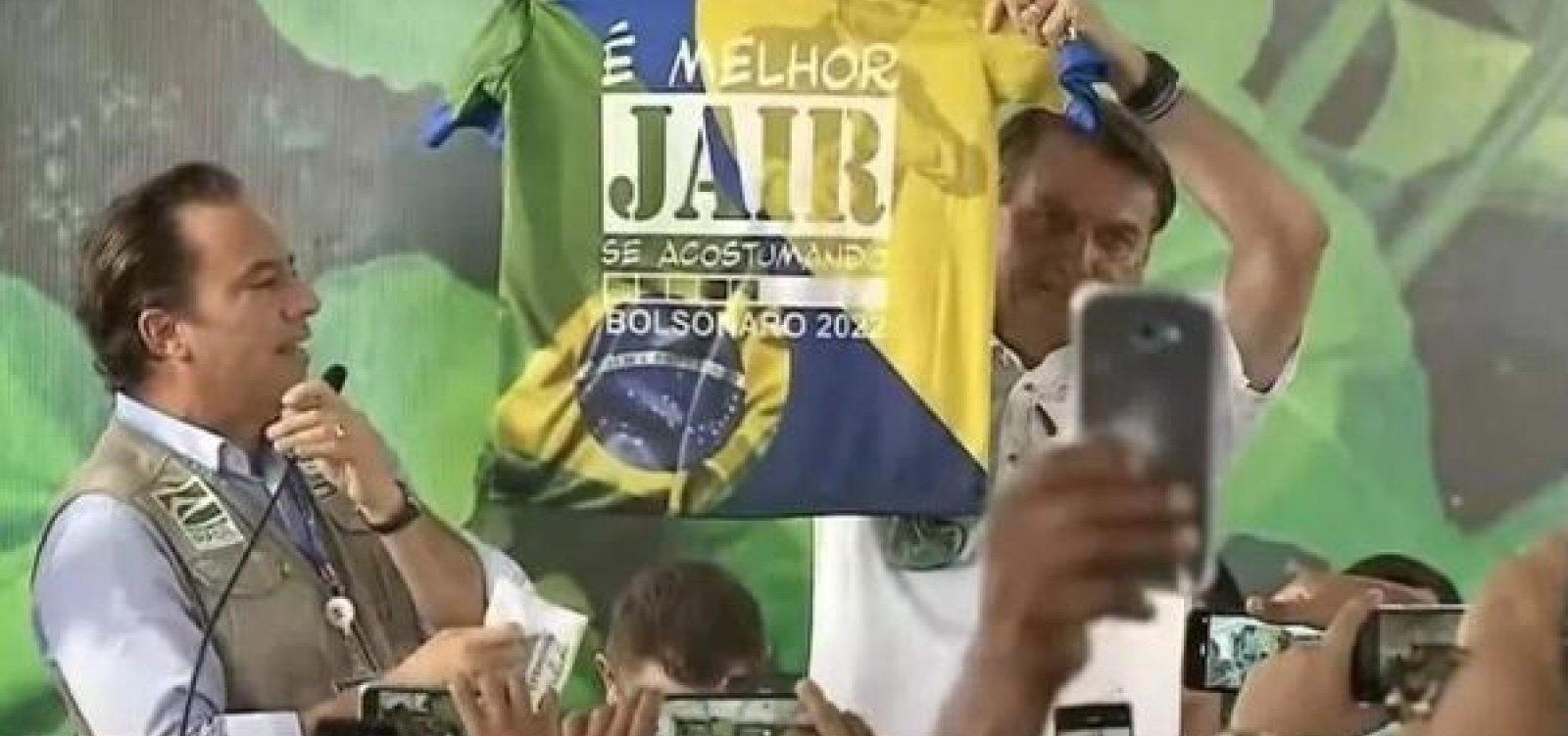 Ministério Público pede ao TSE aplicação de multa a Bolsonaro por propaganda eleitoral antecipada