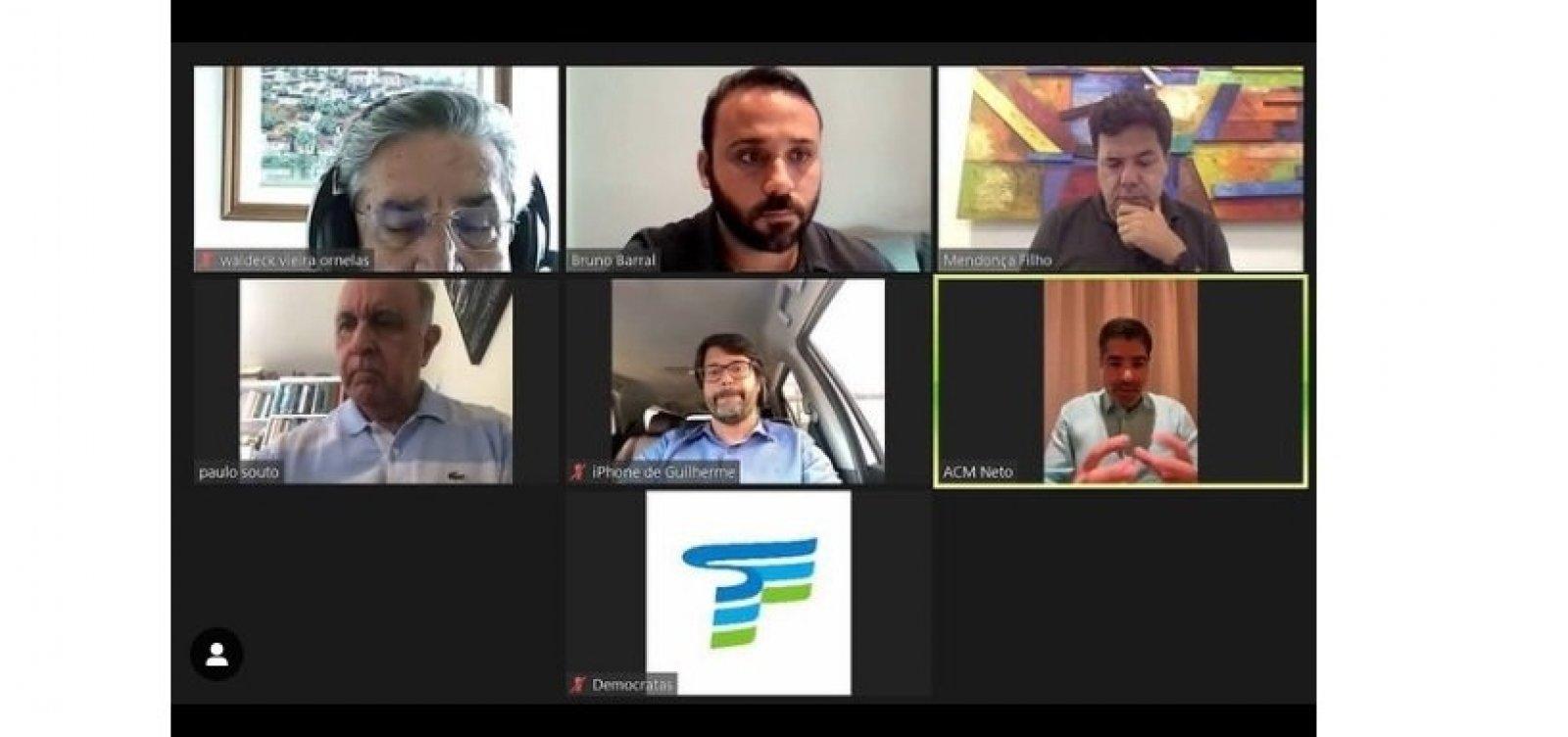 Presidente do Bahia, Bellintani participa de encontro virtual com ACM Neto e Paulo Souto