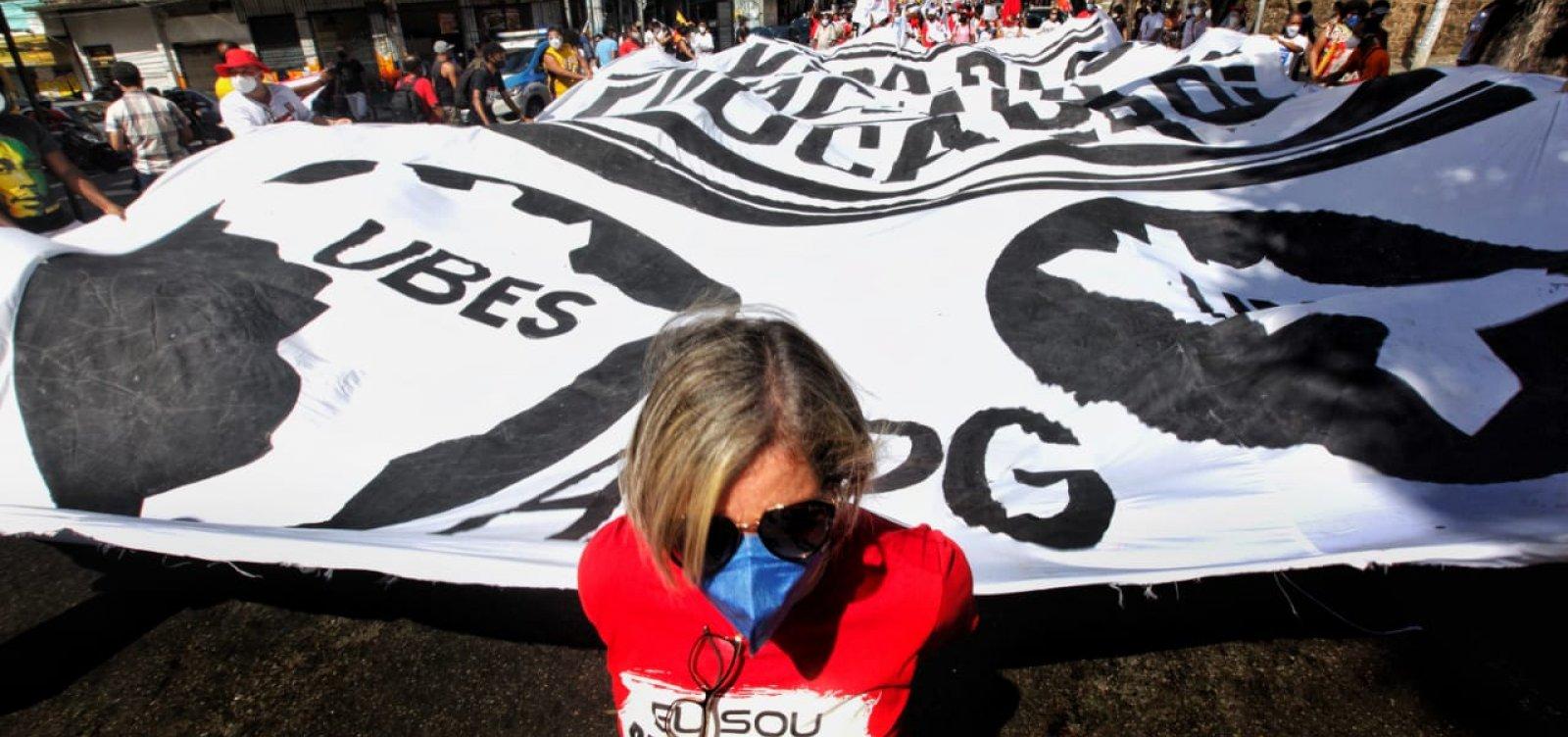 Manifestantes marcam terceiro ato contra Bolsonaro para o dia 24 de julho