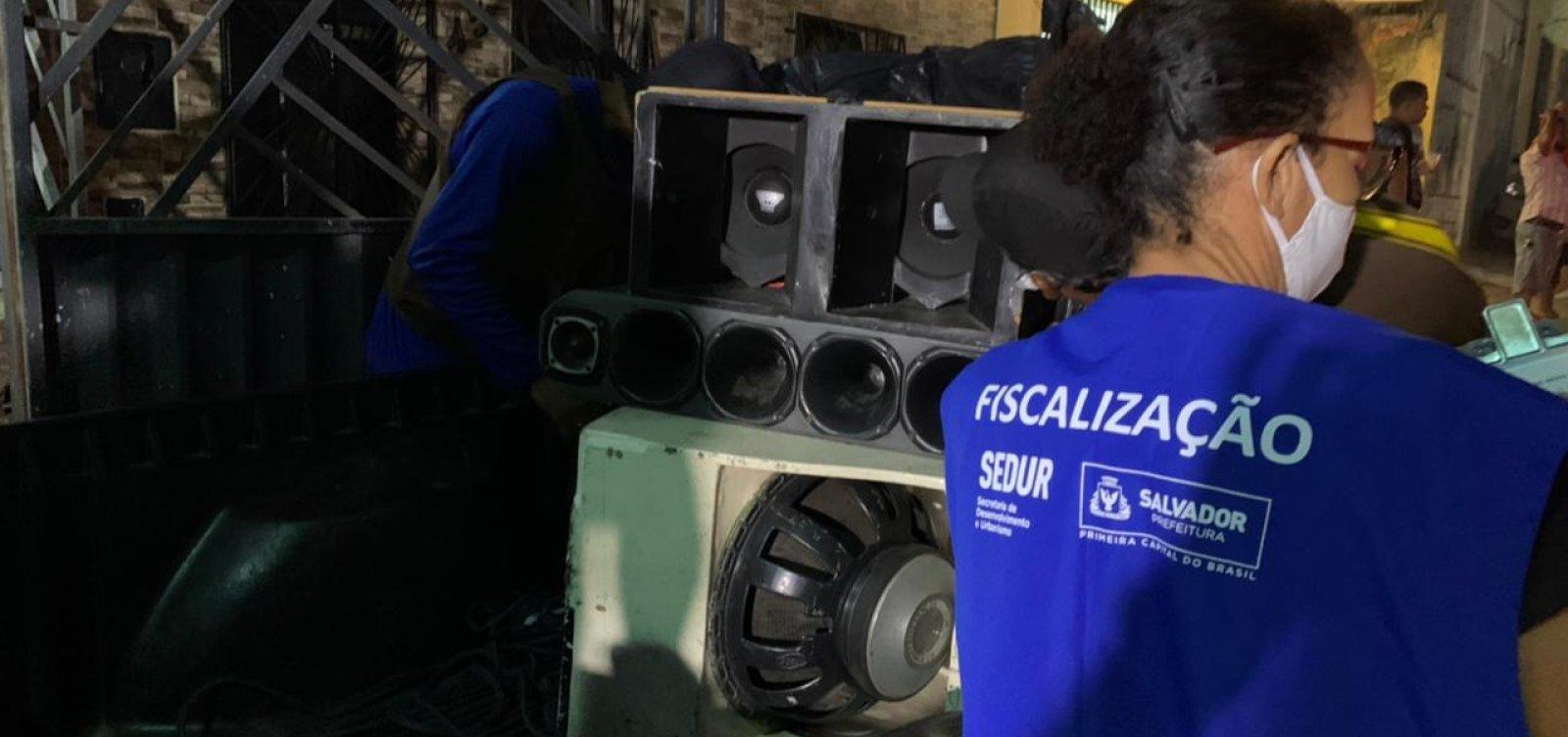 Sedur apreende 15 equipamentos de som em festas irregulares na véspera de São João