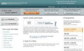 Sisu abre inscrições para 228 mil vagas em universidades brasileiras