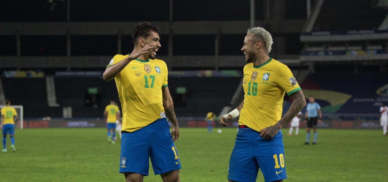 Brasil busca 10º título da Copa América e Neymar 'escolhe' Argentina como adversário da final