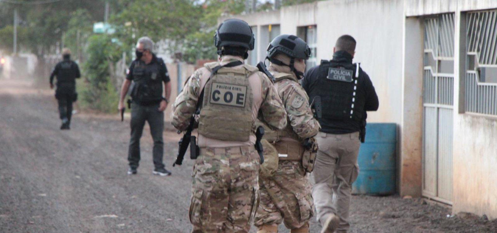 Polícia cumpre mandados de prisão contra suspeitos de ataques a bancos na Bahia