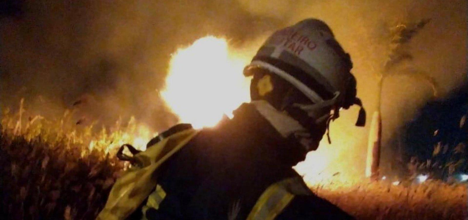 Incêndio de grande dimensão atinge área de orfanato em Barreiras