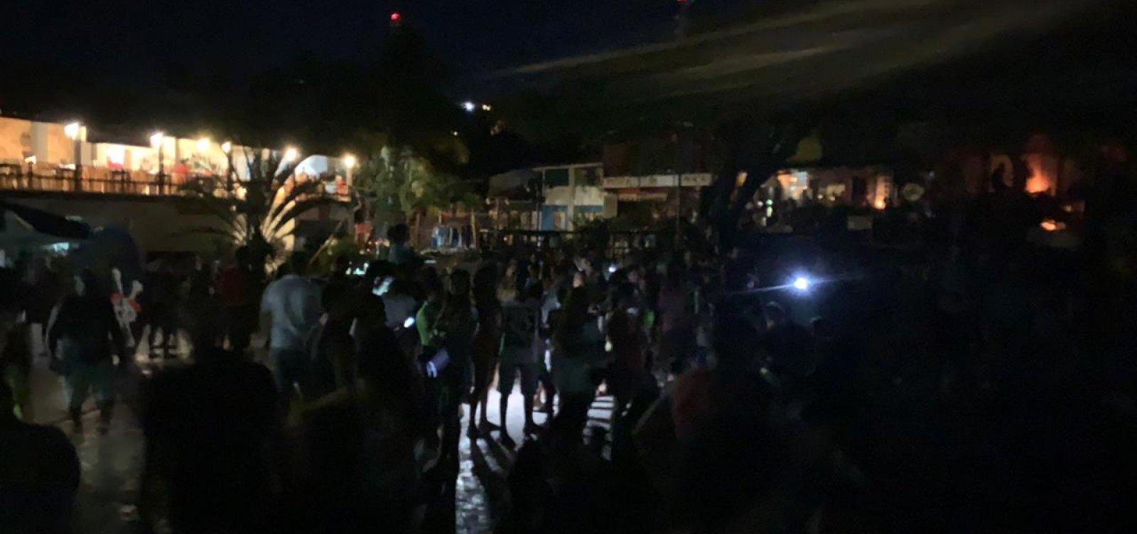Sem energia em Morro, turistas estão deixando pousada sem pagar diárias